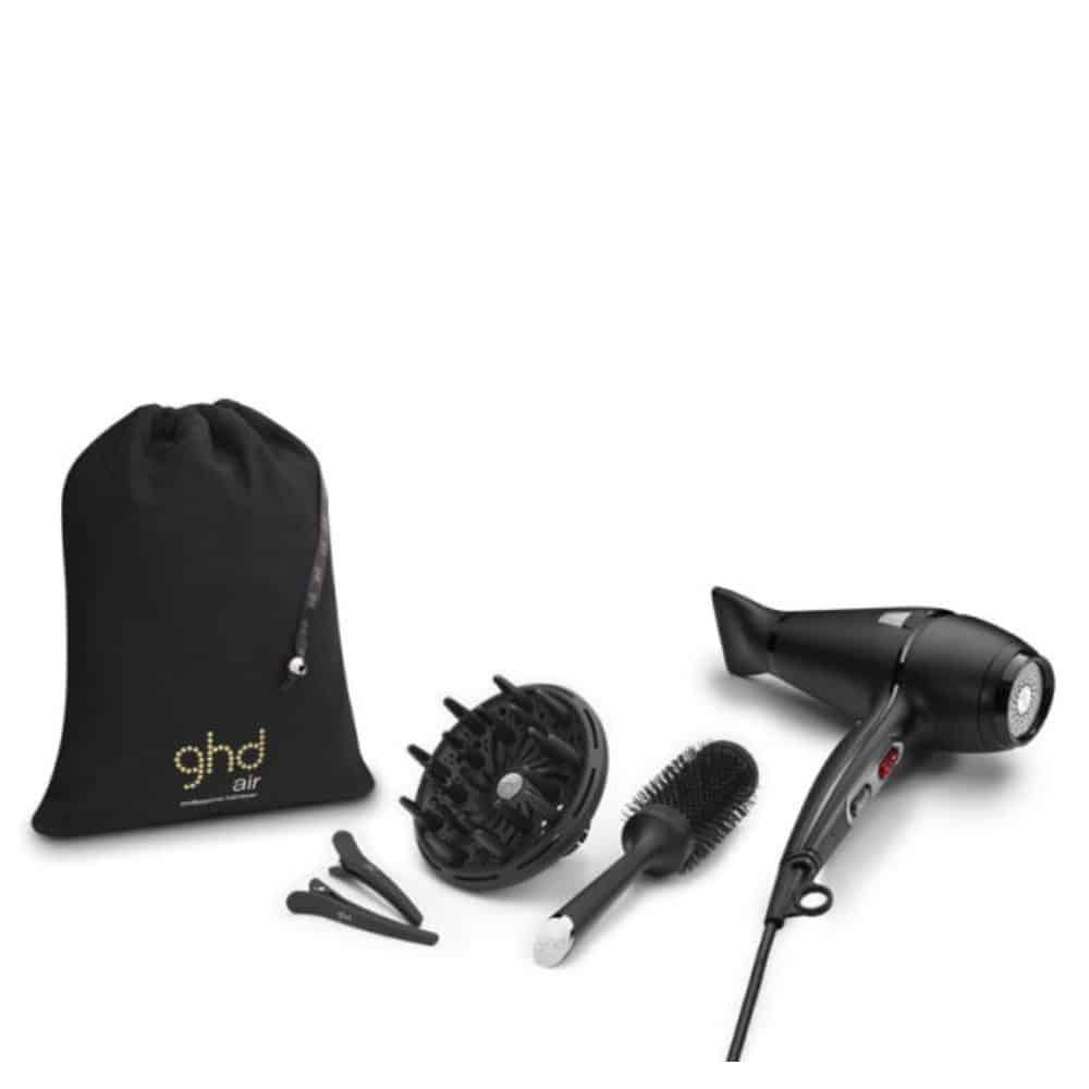 ghd AIR kit Hairdryer Diffuser Brush and clips 1